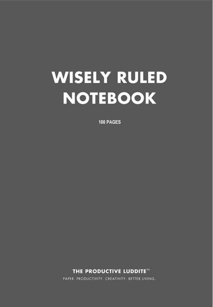 Sample Page from Wisely Ruled Notebook