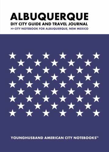 Albuquerque DIY City Guide and Travel Journal by Younghusband American City Notebooks (ProductiveLuddite.com)
