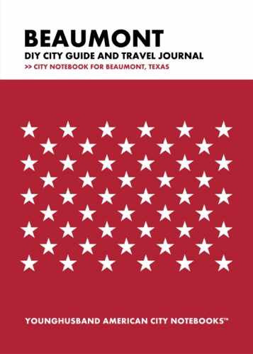 Beaumont DIY City Guide and Travel Journal by Younghusband American City Notebooks (ProductiveLuddite.com)