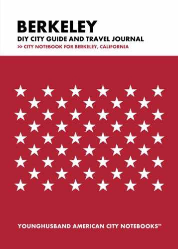 Berkeley DIY City Guide and Travel Journal by Younghusband American City Notebooks (ProductiveLuddite.com)