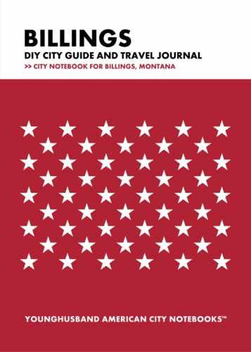 Billings DIY City Guide and Travel Journal by Younghusband American City Notebooks (ProductiveLuddite.com)