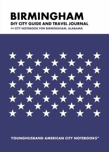 Birmingham DIY City Guide and Travel Journal by Younghusband American City Notebooks (ProductiveLuddite.com)