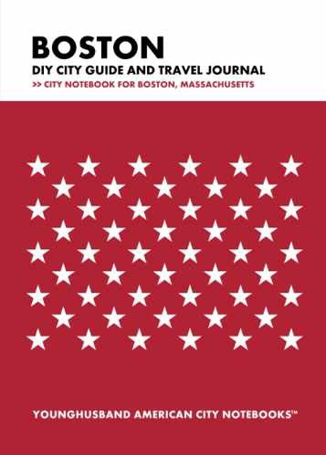 Boston DIY City Guide and Travel Journal by Younghusband American City Notebooks (ProductiveLuddite.com)
