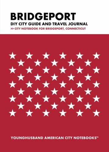 Bridgeport DIY City Guide and Travel Journal by Younghusband American City Notebooks (ProductiveLuddite.com)