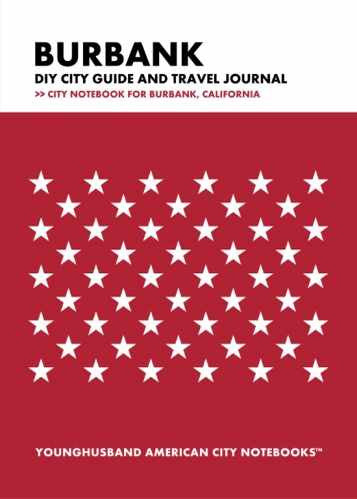 Burbank DIY City Guide and Travel Journal by Younghusband American City Notebooks (ProductiveLuddite.com)