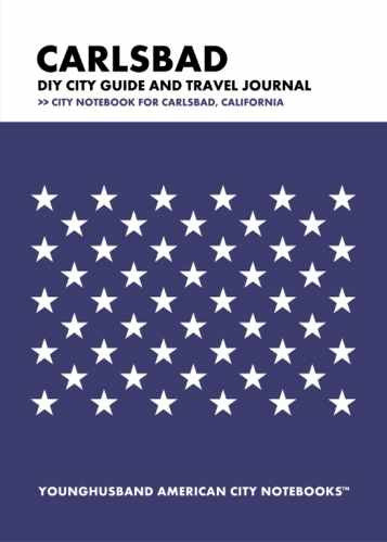 Carlsbad DIY City Guide and Travel Journal by Younghusband American City Notebooks (ProductiveLuddite.com)