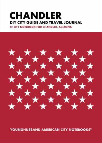 Chandler DIY City Guide and Travel Journal by Younghusband American City Notebooks (ProductiveLuddite.com)