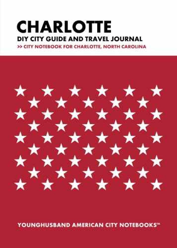 Charlotte DIY City Guide and Travel Journal by Younghusband American City Notebooks (ProductiveLuddite.com)