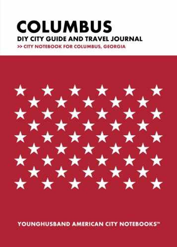 Columbus DIY City Guide and Travel Journal by Younghusband American City Notebooks (ProductiveLuddite.com)