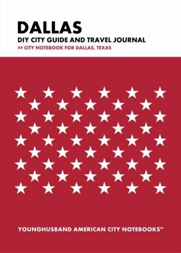 Dallas DIY City Guide and Travel Journal by Younghusband American City Notebooks (ProductiveLuddite.com)