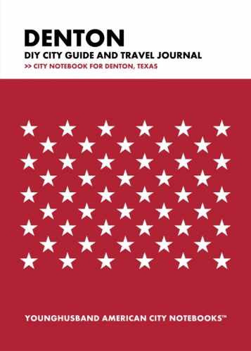 Denton DIY City Guide and Travel Journal by Younghusband American City Notebooks (ProductiveLuddite.com)