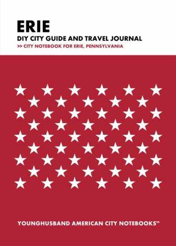 Erie DIY City Guide and Travel Journal by Younghusband American City Notebooks (ProductiveLuddite.com)