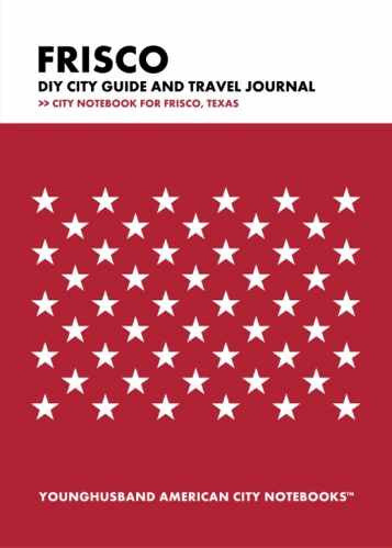Frisco DIY City Guide and Travel Journal by Younghusband American City Notebooks (ProductiveLuddite.com)