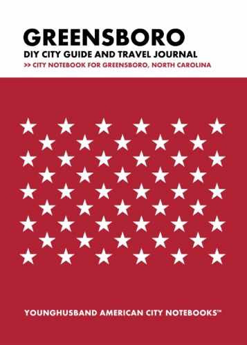 Greensboro DIY City Guide and Travel Journal by Younghusband American City Notebooks (ProductiveLuddite.com)