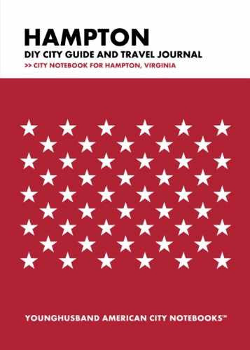 Hampton DIY City Guide and Travel Journal by Younghusband American City Notebooks (ProductiveLuddite.com)
