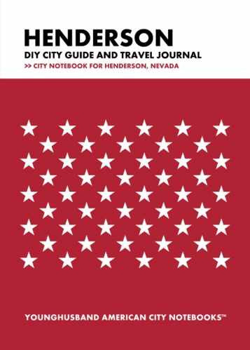 Henderson DIY City Guide and Travel Journal by Younghusband American City Notebooks (ProductiveLuddite.com)