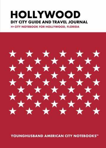 Hollywood DIY City Guide and Travel Journal by Younghusband American City Notebooks (ProductiveLuddite.com)