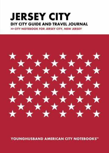 Jersey City DIY City Guide and Travel Journal by Younghusband American City Notebooks (ProductiveLuddite.com)