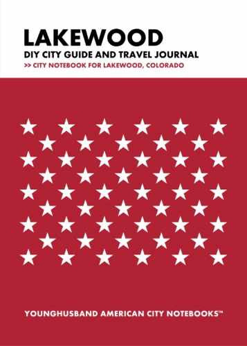 Lakewood DIY City Guide and Travel Journal by Younghusband American City Notebooks (ProductiveLuddite.com)