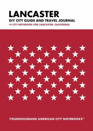 Lancaster DIY City Guide and Travel Journal by Younghusband American City Notebooks (ProductiveLuddite.com)