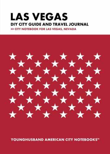Las Vegas DIY City Guide and Travel Journal by Younghusband American City Notebooks (ProductiveLuddite.com)