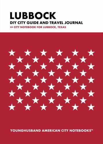 Lubbock DIY City Guide and Travel Journal by Younghusband American City Notebooks (ProductiveLuddite.com)