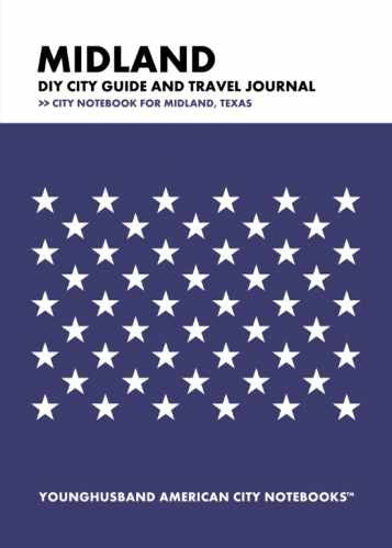 Midland DIY City Guide and Travel Journal by Younghusband American City Notebooks (ProductiveLuddite.com)
