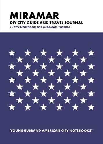 Miramar DIY City Guide and Travel Journal by Younghusband American City Notebooks (ProductiveLuddite.com)