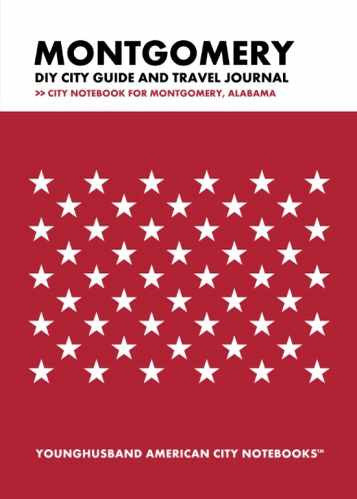 Montgomery DIY City Guide and Travel Journal by Younghusband American City Notebooks (ProductiveLuddite.com)