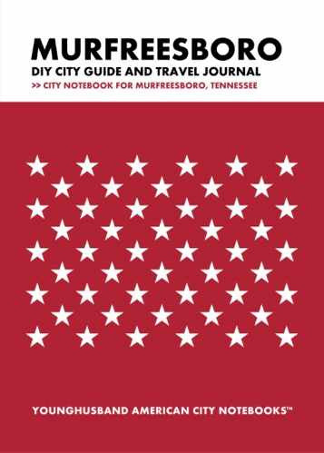 Murfreesboro DIY City Guide and Travel Journal by Younghusband American City Notebooks (ProductiveLuddite.com)