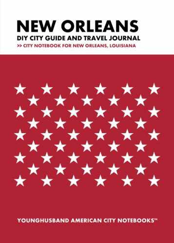 New Orleans DIY City Guide and Travel Journal by Younghusband American City Notebooks (ProductiveLuddite.com)