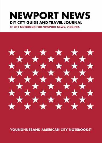 Newport News DIY City Guide and Travel Journal by Younghusband American City Notebooks (ProductiveLuddite.com)