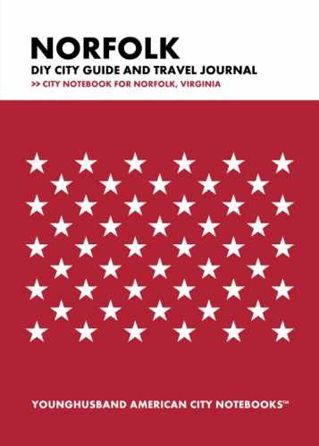 Norfolk DIY City Guide and Travel Journal by Younghusband American City Notebooks (ProductiveLuddite.com)