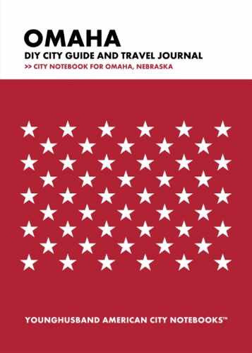 Omaha DIY City Guide and Travel Journal by Younghusband American City Notebooks (ProductiveLuddite.com)