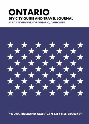 Ontario DIY City Guide and Travel Journal by Younghusband American City Notebooks (ProductiveLuddite.com)