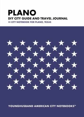 Plano DIY City Guide and Travel Journal by Younghusband American City Notebooks (ProductiveLuddite.com)