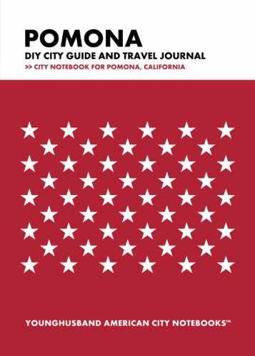 Pomona DIY City Guide and Travel Journal by Younghusband American City Notebooks (ProductiveLuddite.com)