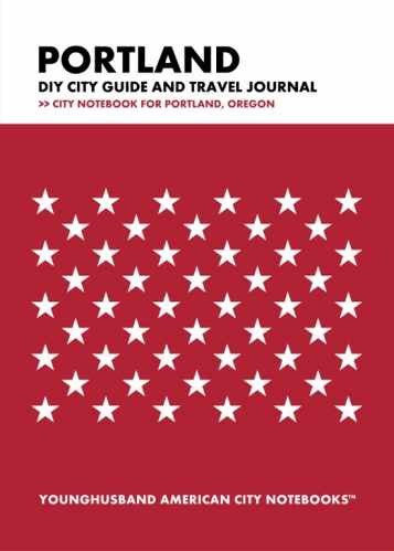 Portland DIY City Guide and Travel Journal by Younghusband American City Notebooks (ProductiveLuddite.com)