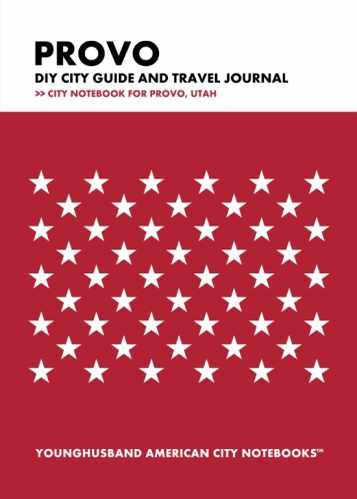 Provo DIY City Guide and Travel Journal by Younghusband American City Notebooks (ProductiveLuddite.com)