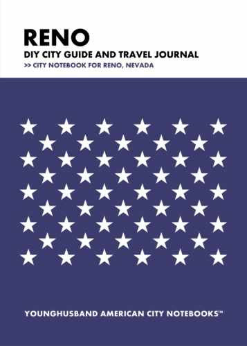Reno DIY City Guide and Travel Journal by Younghusband American City Notebooks (ProductiveLuddite.com)