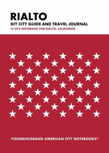 Rialto DIY City Guide and Travel Journal by Younghusband American City Notebooks (ProductiveLuddite.com)