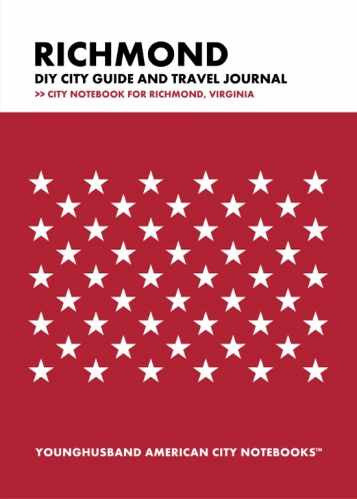 Richmond DIY City Guide and Travel Journal by Younghusband American City Notebooks (ProductiveLuddite.com)