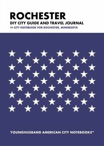 Rochester DIY City Guide and Travel Journal by Younghusband American City Notebooks (ProductiveLuddite.com)