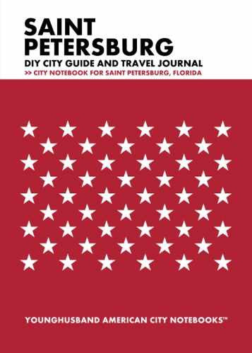 Saint Petersburg DIY City Guide and Travel Journal by Younghusband American City Notebooks (ProductiveLuddite.com)
