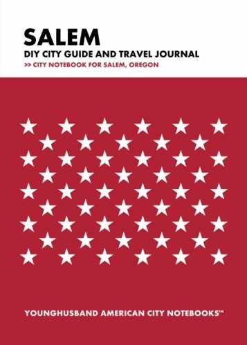 Salem DIY City Guide and Travel Journal by Younghusband American City Notebooks (ProductiveLuddite.com)