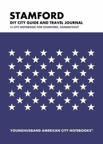 Stamford DIY City Guide and Travel Journal by Younghusband American City Notebooks (ProductiveLuddite.com)