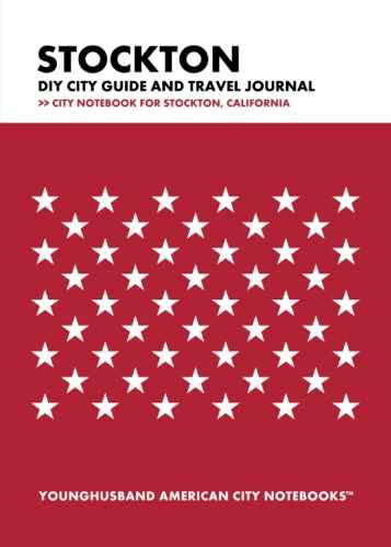 Stockton DIY City Guide and Travel Journal by Younghusband American City Notebooks (ProductiveLuddite.com)