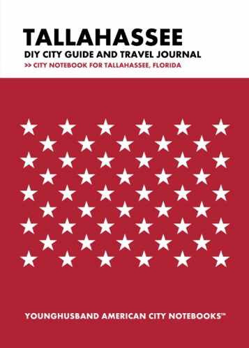 Tallahassee DIY City Guide and Travel Journal by Younghusband American City Notebooks (ProductiveLuddite.com)