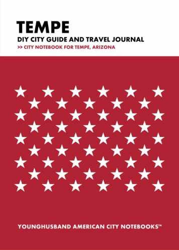 Tempe DIY City Guide and Travel Journal by Younghusband American City Notebooks (ProductiveLuddite.com)