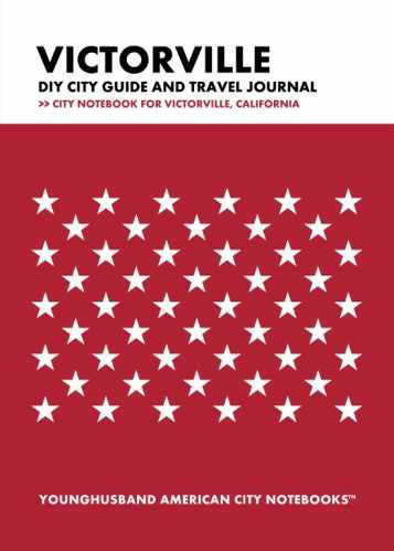 Victorville DIY City Guide and Travel Journal by Younghusband American City Notebooks (ProductiveLuddite.com)